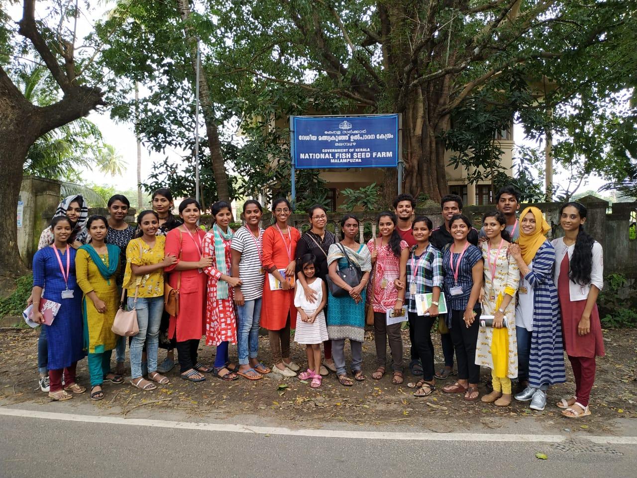 Field visit at National Fish Seed Farm at Malampuzha, Palakkad