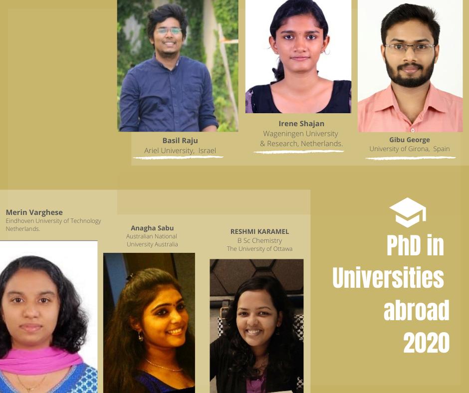 Ph.D. Chemistry Programme at International Universities