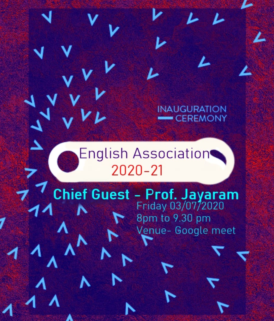 English Association Inauguration 2020 July 3rd